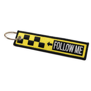 Follow Me / Remove Before Flight Keychain | Luggage Tag / Yellow / Black - aviamart
