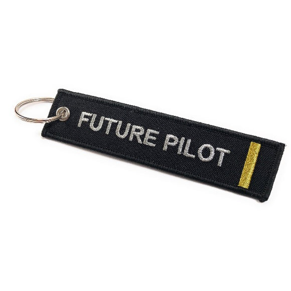 Future Pilot Keychain | Luggage Tag | 1 Gold Stripe | Aviamart