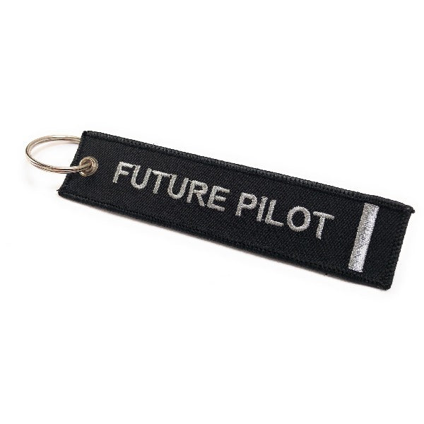 Future Pilot Keychain | Luggage Tag | 1 Silver Stripe | Aviamart