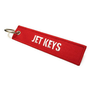 Jet Keys / Insert Before Flight Keychain | Luggage Tag | Red / White