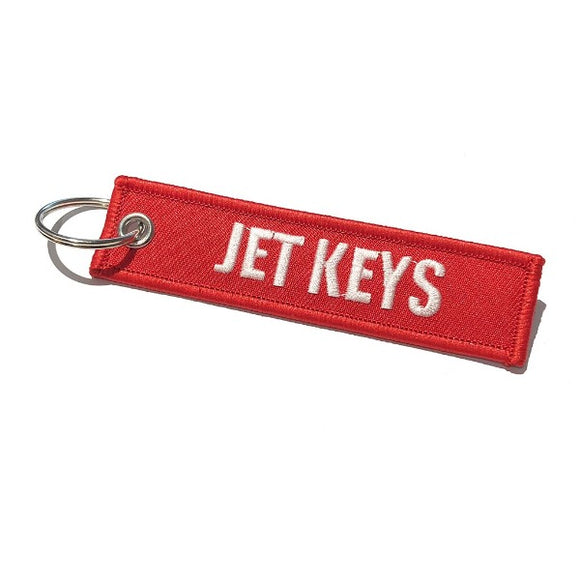 Mini - Jet Keys / Insert Before Flight Keychain | Luggage Tag | Red / White | Aviamart