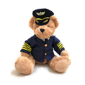 Soft Toy Airline Pilot Teddy Bear | Large (43 cm) | High Quality Stuffed Toy | Bear Pilot - aviamart