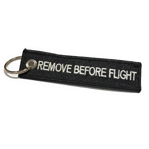 Remove Before Flight MINI Luggage Tag - Black / White | Aviamart