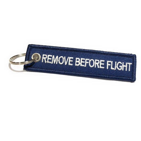 Remove Before Flight MINI Keychain | Luggage Tag | Navy / White | Aviamart