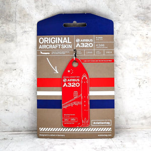 Aviationtag China Eastern Airlines A320 Aircraft Skin Tag in red colour with packaging - Aircraft Registration B-2400