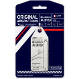 Aviationtag Air France A319 Aircraft Skin Tag in white colour with packaging - Aircraft Registration F-GPMB