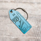 Aviationtag Korean Air B747 Aircraft Skin Tag in blue colour  - front view of the tag - Aircraft Registration HL7491