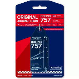 Aviationtag Boeing B757 - Blue (Delta Airlines) Reg. No: N646DL | Aviamart