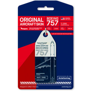 Aviationtag Boeing B757 - Blue / White (Delta Airlines) Reg. No: N646DL | Aviamart