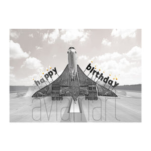 "Birthday Card ""Happy Birthday / Concorde Candles"" - A6"
