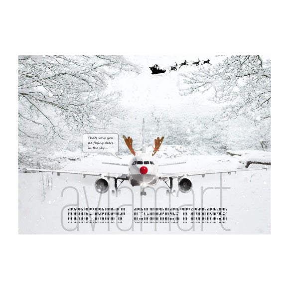 Christmas Card - Merry Christmas - Rudolf - A6 - aviamart