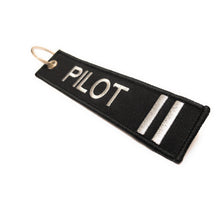 Pilot Keychain | Luggage Tag | 2 Silver Stripes