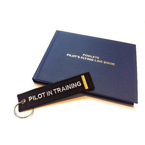 Pilot In Training Keychain | Luggage Tag | 1 Gold Stripe | Aviamart