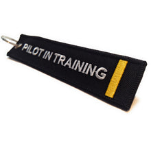 Pilot In Training Keychain | Luggage Tag | 1 Gold Stripe