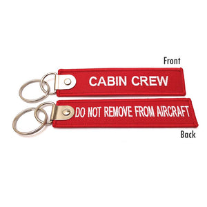 Premium Cabin Crew / Do Not Remove From Aircraft Luggage Tag - Red / White - aviamart