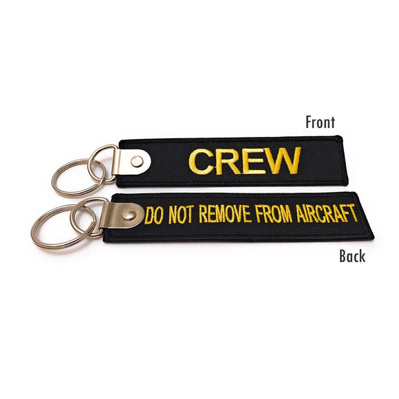 Premium Crew / Do Not Remove From Aircraft Luggage Tag - Black / Yellow | Aviamart