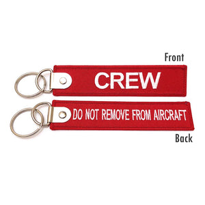 Premium Crew / Do Not Remove From Aircraft Luggage Tag - Red / White | Aviamart