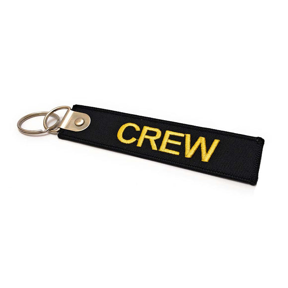 Premium Embroidered Crew Luggage Tag - Black / Yellow | Aviamart