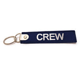 Premium Embroidered Crew Luggage Tag - Navy / White | Aviamart