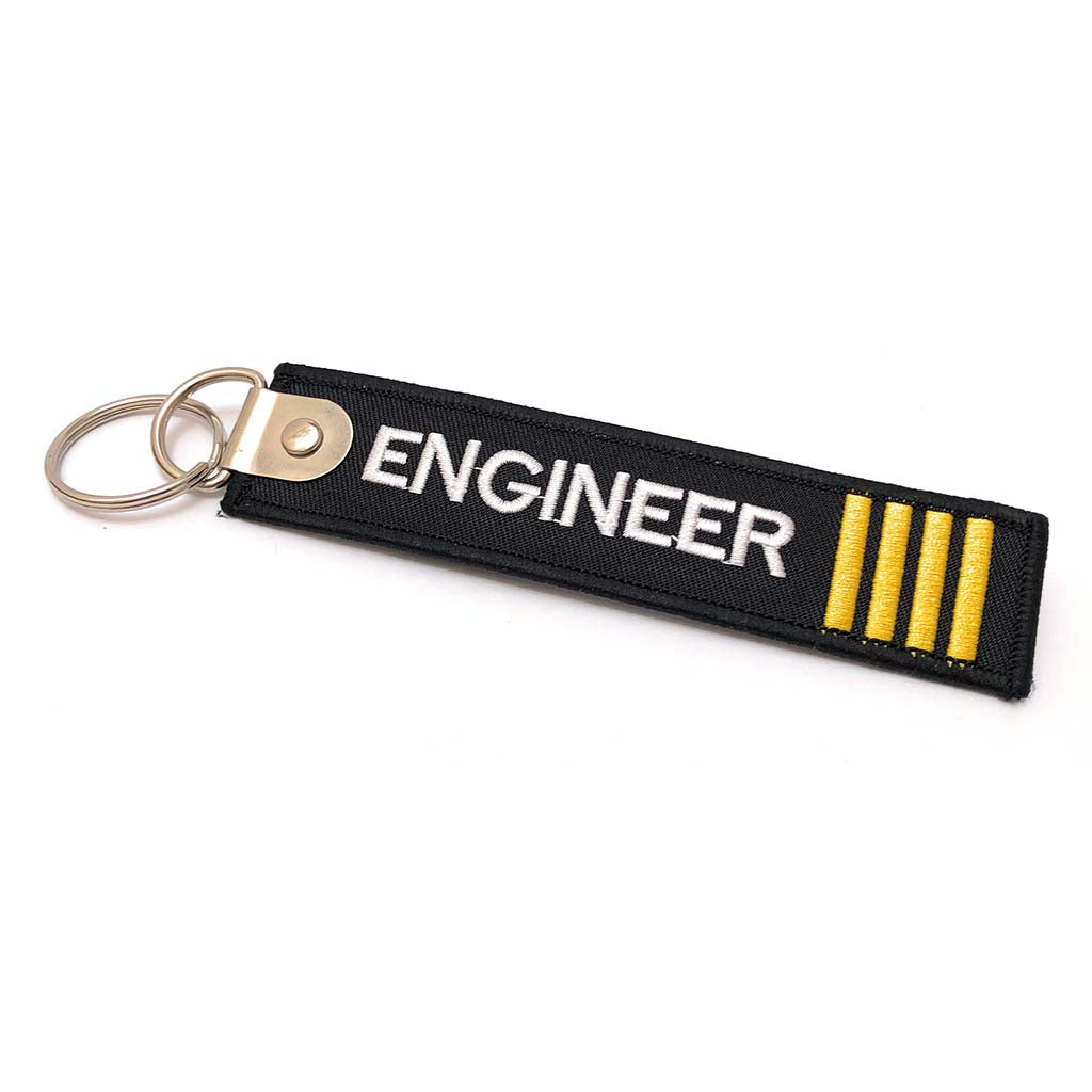 Premium Engineer Luggage Tag - 4 Stripes Gold | Aviamart
