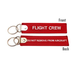Premium Flight Crew / Do Not Remove From Aircraft Luggage Tag  - Red / White | Aviamart