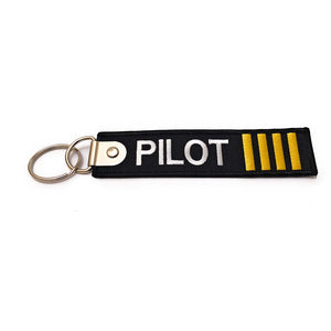 Premium Embroidered Pilot Luggage Tag - 4 Gold Stripes | Aviamart