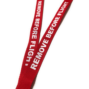 Remove Before Flight Lanyard Red and White