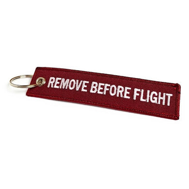 Remove Before Flight Keychain | Luggage Tag | Cherry Red | Aviamart
