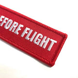 Replace Before Flight Luggage Tag - Red / White - set of 2 | Aviamart