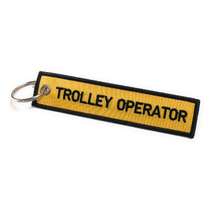 Trolley Operator Luggage Tag | Keychain | Yellow / Black | aviamart® | Aviamart