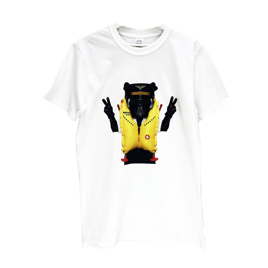Unisex T-Shirt Pilot Bulldog 100% Cotton