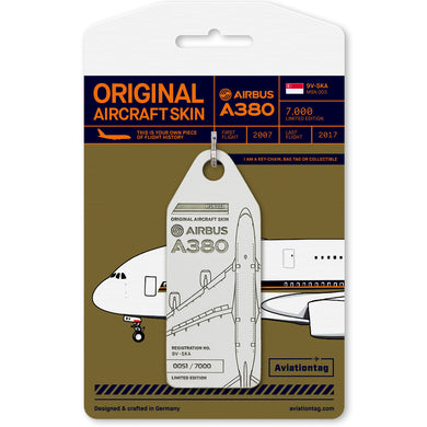 Aviationtag Airbus A380 – White (Singapore Airlines) 9V-SKA | Aviamart
