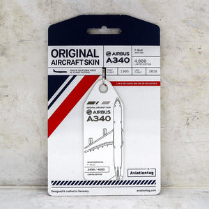 Aviationtag Airbus A340 - White (Air France) F-GLZI | Aviamart