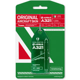 Aviationtag Alitalia Airlines A321 Aircraft Skin Tag in green colour with packaging - Aircraft Registration I-BIXN