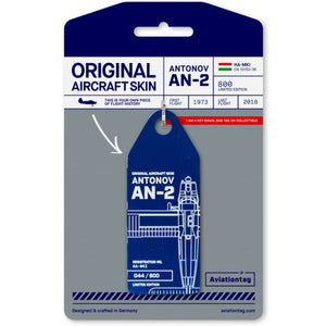 Aviationtag Antonov AN-2R - Blue (Aero Club) HA-MKI | Aviamart
