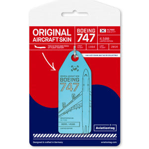 Aviationtag Boeing B747 - Blue (Korean Air) HL7490 | Aviamart