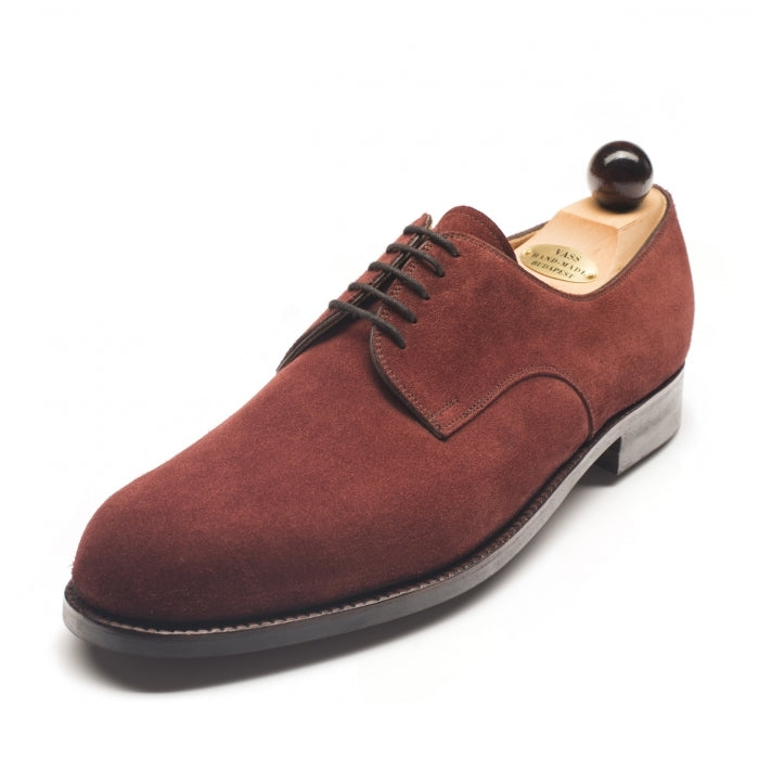 1033 - Vass London Red Brown Suede
