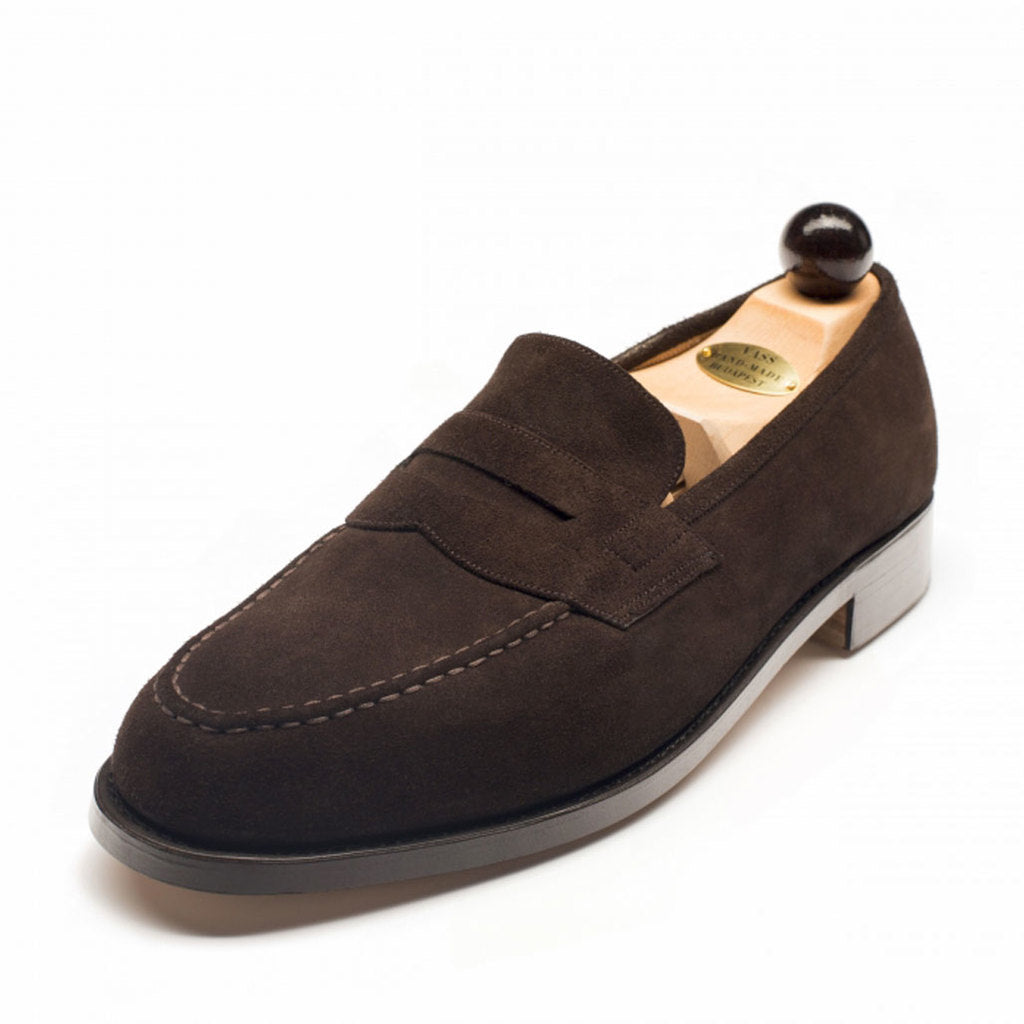 Vass Slipper Dark Brown Suede Peter Last