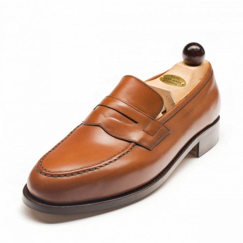 Vass Slipper Cognac Calf Peter Last