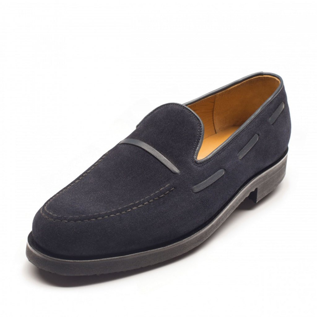 1045 - Vass Slipper Navy Suede