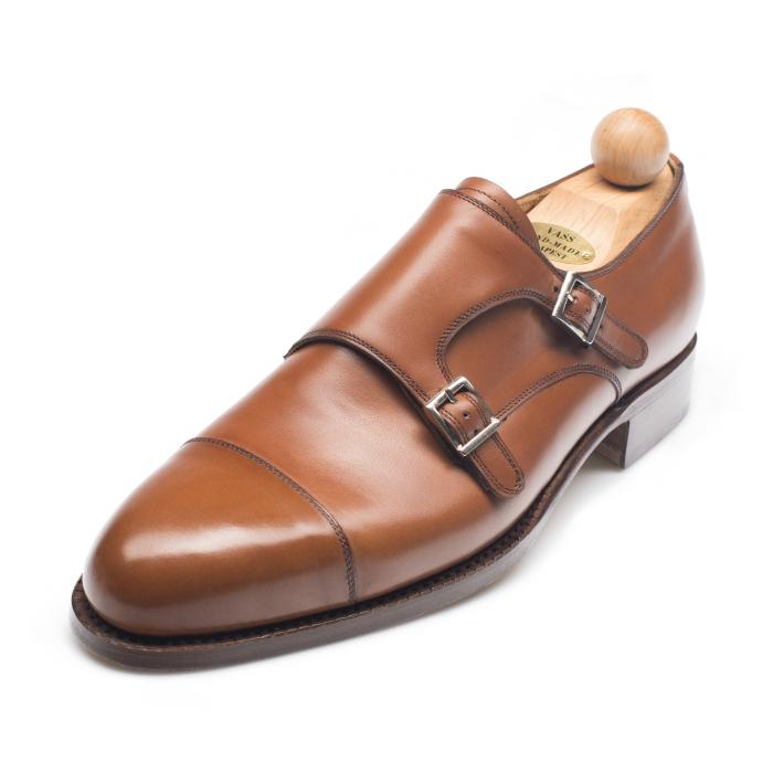 1064 - Vass Double Monk Cognac Calf