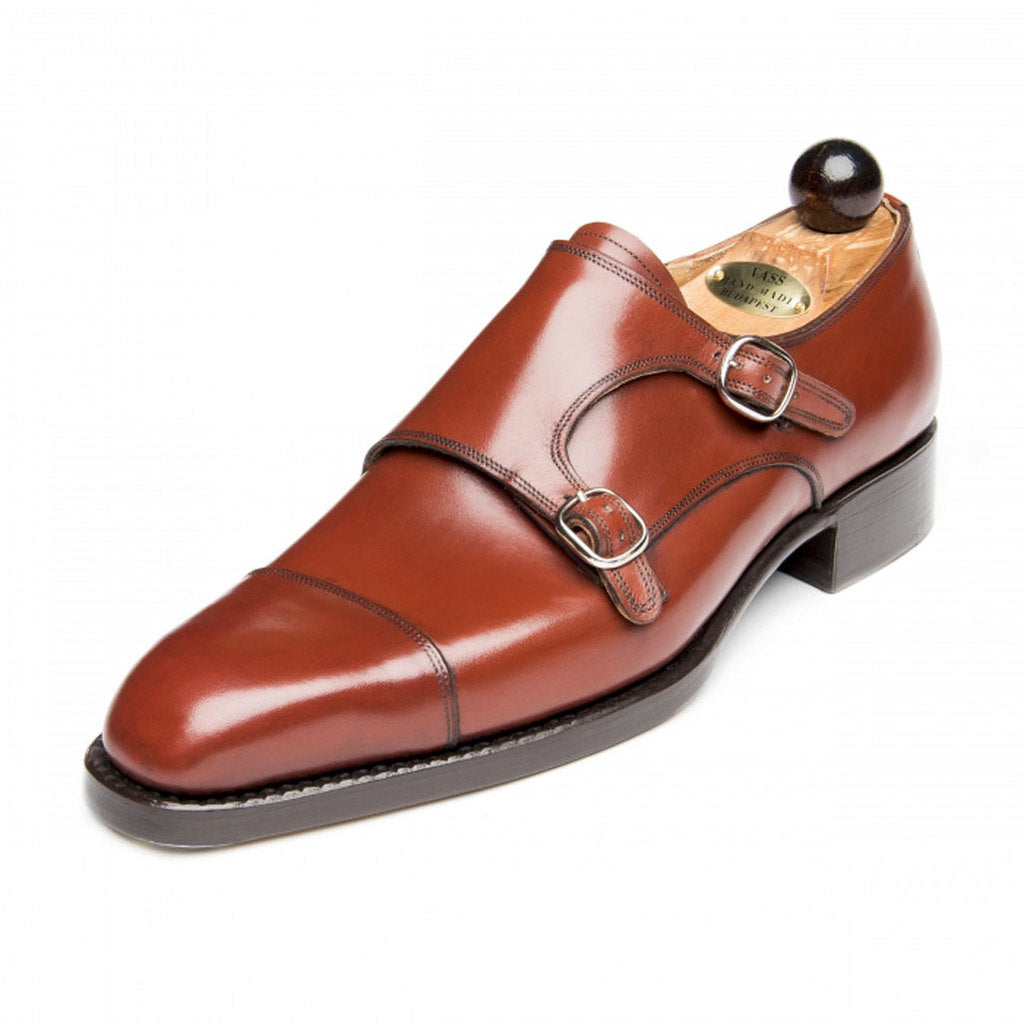 Double Monk Red Cognac Calf U last