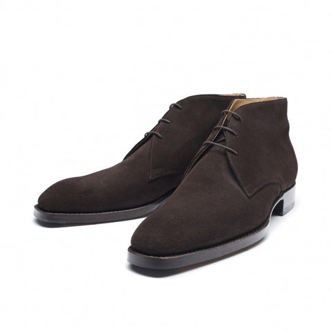 Vass Chukka Dark Brown Suede SP Last