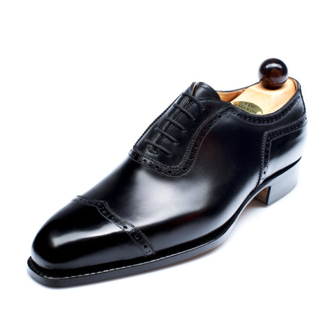Vass Italian Oxford Black Calf U Last