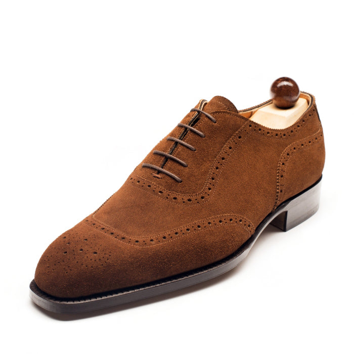 1210 - Vass U Cap Oxford Mid Brown Suede