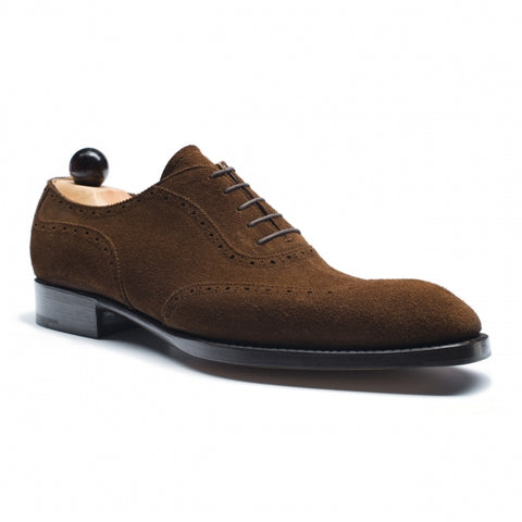 Vass Wingtip Oxford Medium Brown Suede SP Last