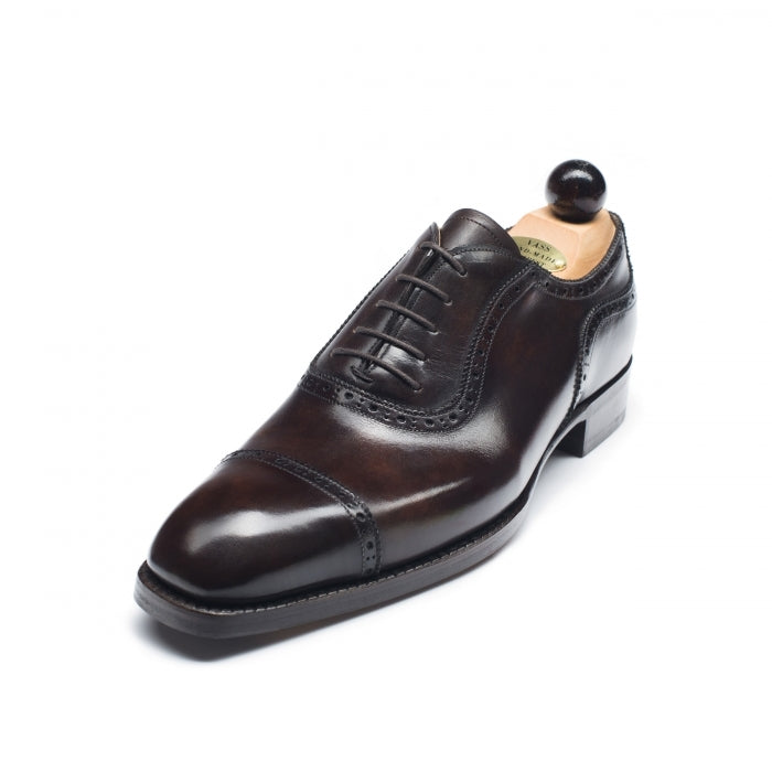 5166 - Vass Italian Oxford Dark Brown Museum Calf