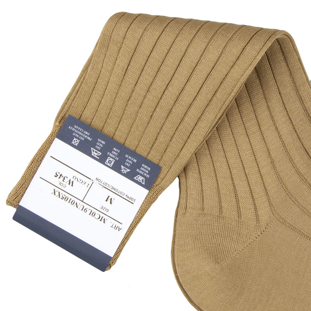 Bresciani Ankle Length Cotton Socks - Sand
