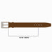 Jeeves Mid Brown Hatch Grain Leather Belt