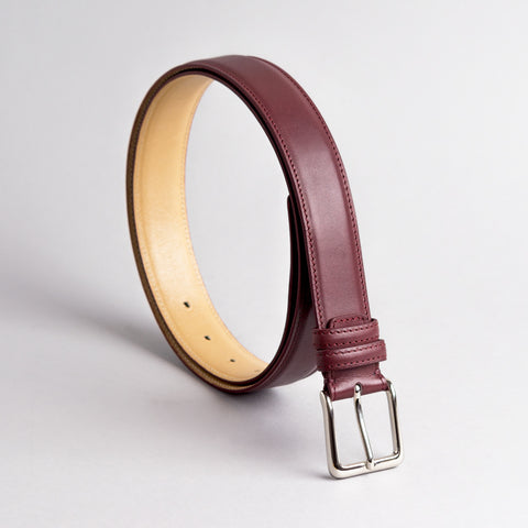 Jeeves Vintage Cherry Leather Belt